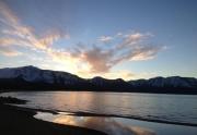 Tahoe Keys Beach at Sunset