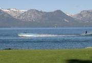 Skier on Lake Tahoe