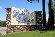 Lake Village summer sign