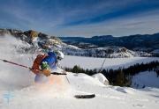 Skiing shot